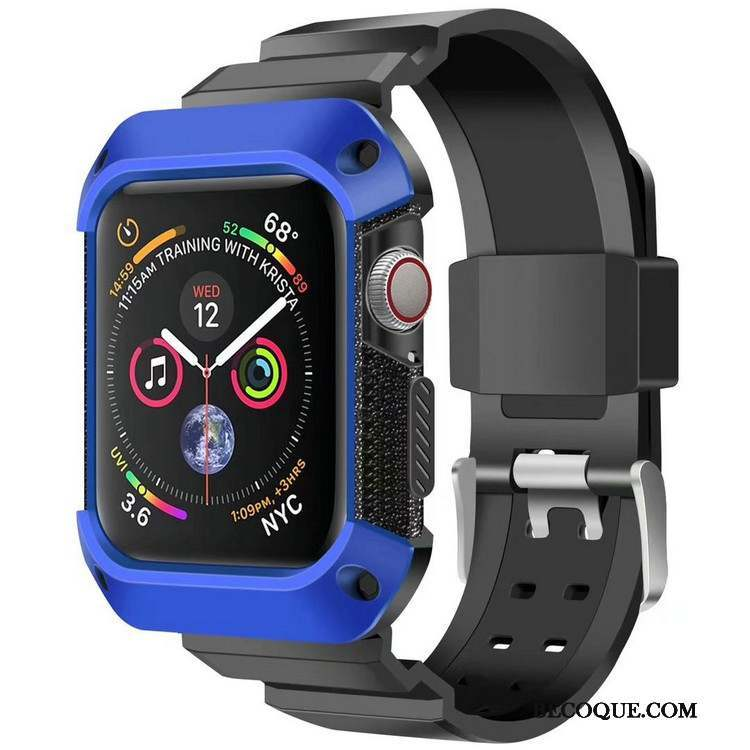Apple Watch Series 4 Coque Protection Incassable Bleu Armure Sport