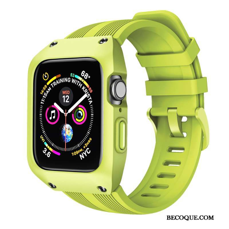 Apple Watch Series 4 Coque Protection Vert Incassable Créatif Étui Sport