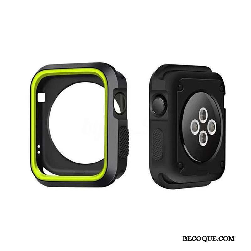 Apple Watch Series 4 Coque Silicone Protection Incassable Étui Border Vert