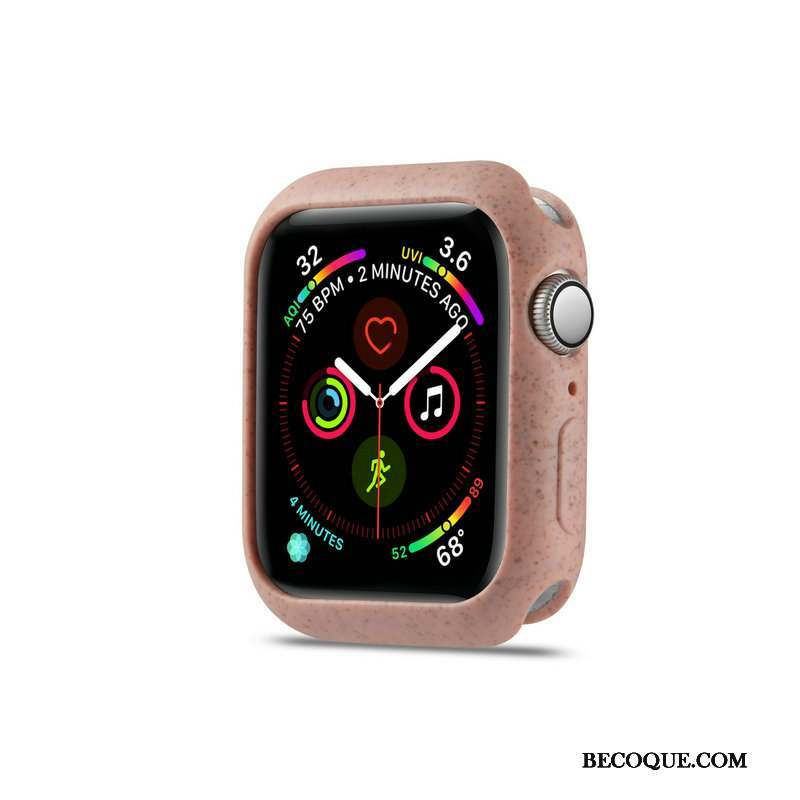 Apple Watch Series 4 Dragon Fluide Doux Coque Rose Délavé En Daim Protection
