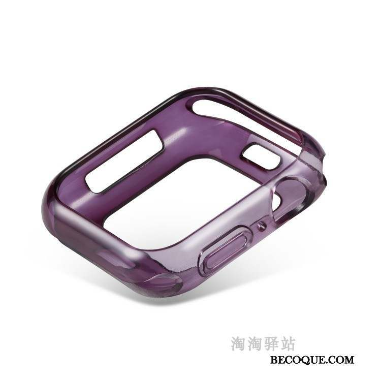 Apple Watch Series 4 Protection Coque Bicolore Fluide Doux Incassable Violet