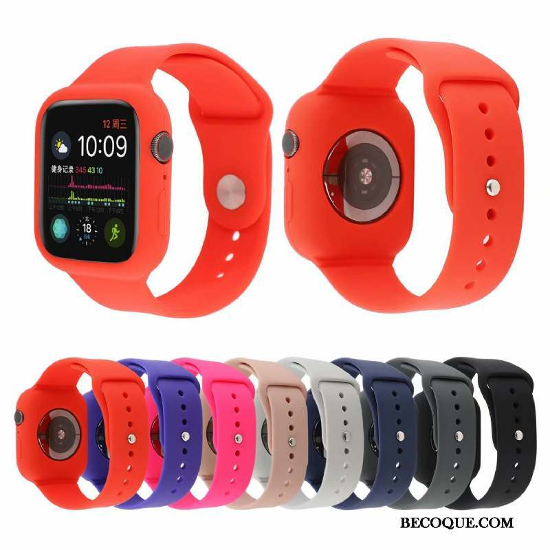 Apple Watch Series 4 Rouge Coque Tendance Sport Nouveau Mode
