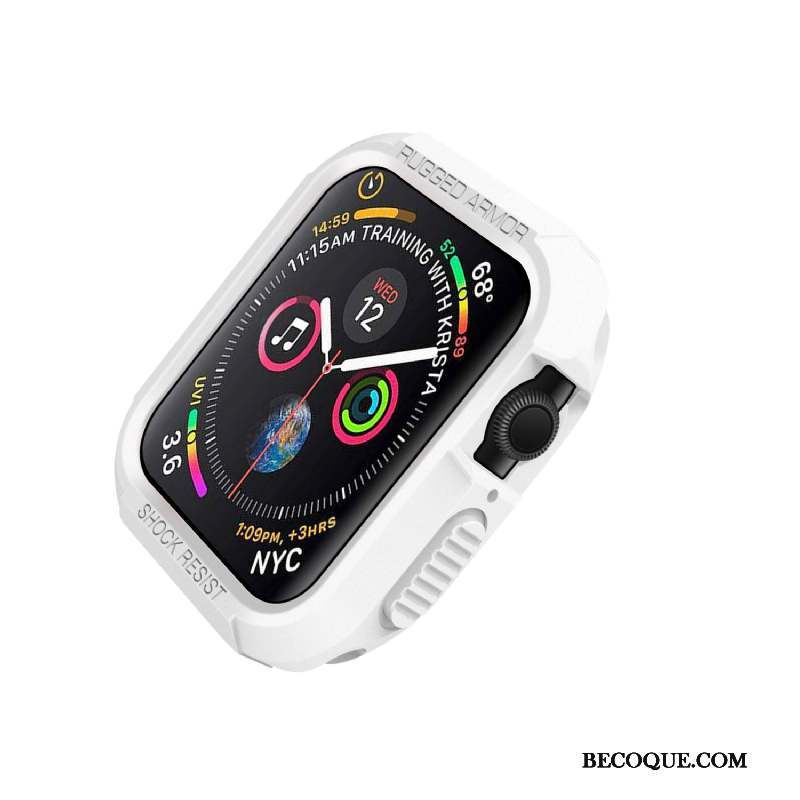 Apple Watch Series 4 Silicone Étui Protection Incassable Blanc Coque