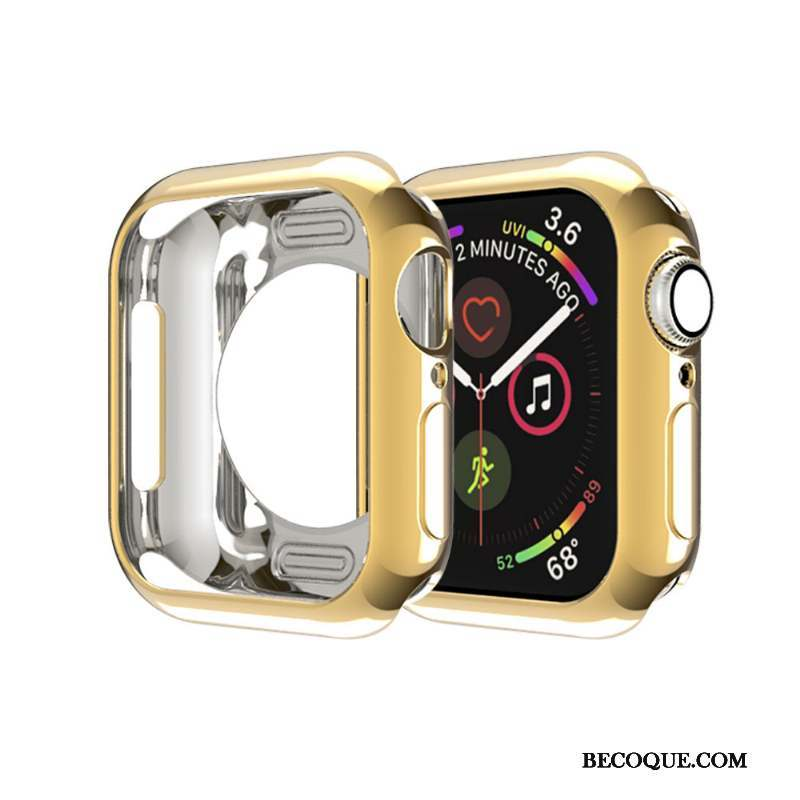 Apple Watch Series 4 Très Mince Membrane Or Étui Coque Border