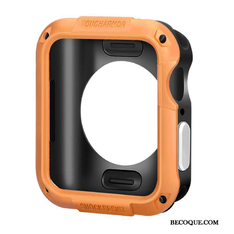 Apple Watch Series 5 Coque Border Protection Silicone Accessoires Orange