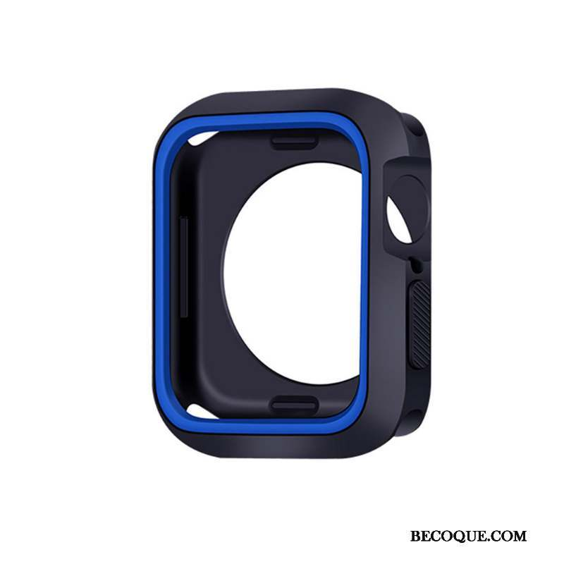 Apple Watch Series 5 Silicone Bleu Fluide Doux Coque Protection