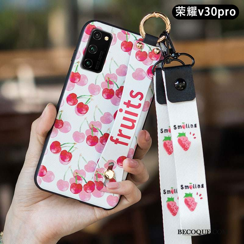 Honor View30 Pro Frais Art Simple Coque Fluide Doux Tendance