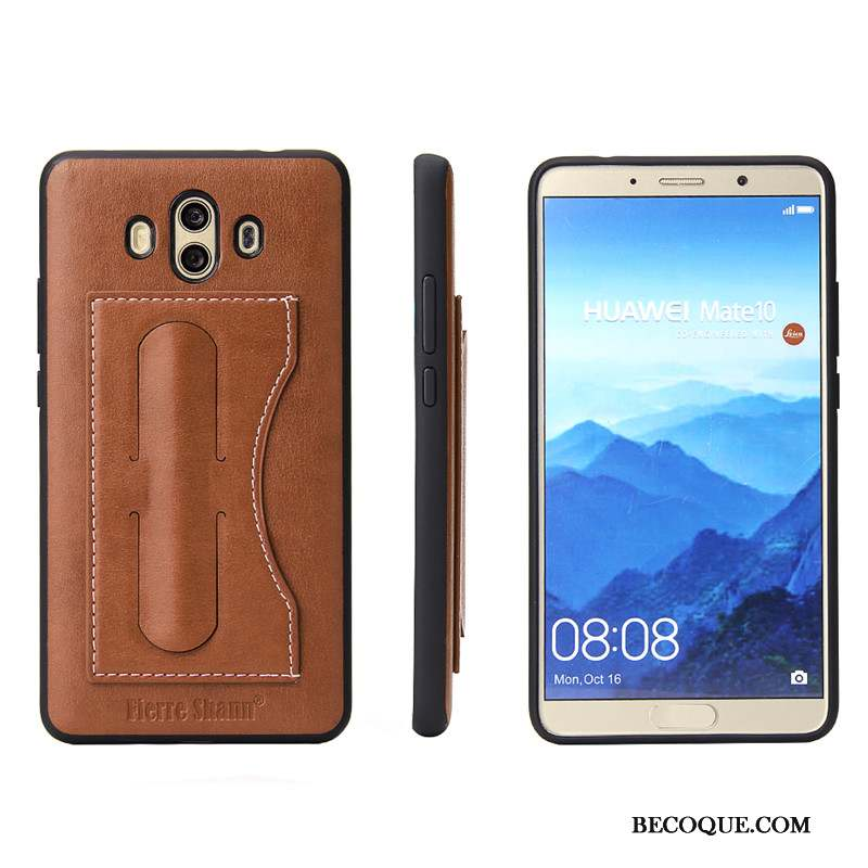 Huawei Mate 10 Coque Support Étui Simple Protection De Téléphone
