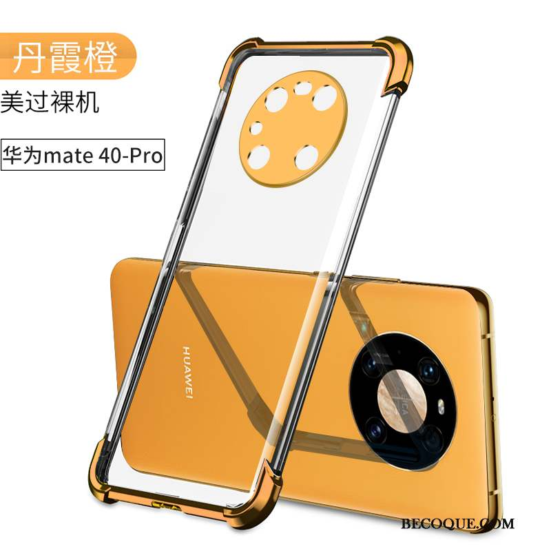 Huawei Mate 40 Pro Coque De Téléphone Ballon Protection Incassable Orange Étui