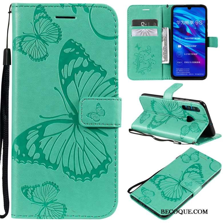 Huawei P Smart+ 2019 Coque De Téléphone Silicone Incassable Vert Fluide Doux Étui En Cuir