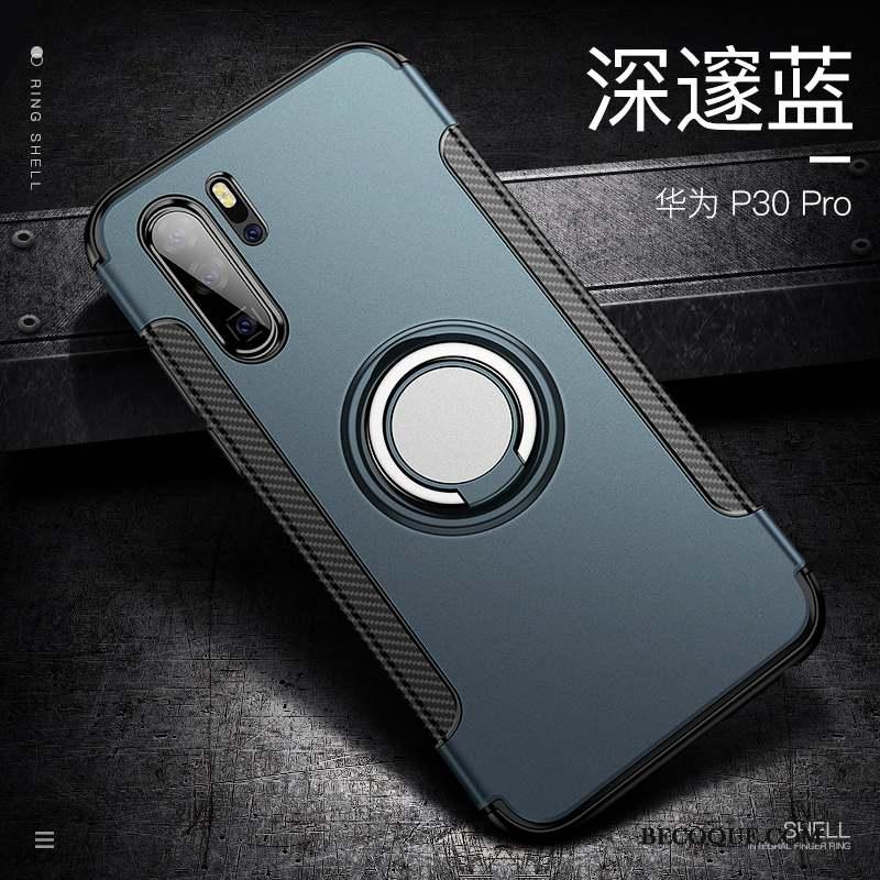 Huawei P30 Pro Coque Tout Compris Armure Foncé Membrane Délavé En Daim Étui