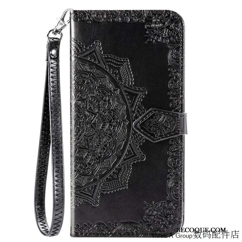 Huawei P40 Lite Carte Noir Silicone Ornements Suspendus Coque De Téléphone Incassable