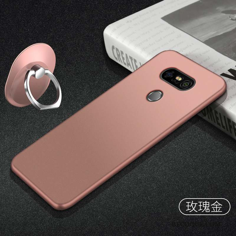 Lg G5 Support Simple Coque De Téléphone Protection Or Rose Silicone