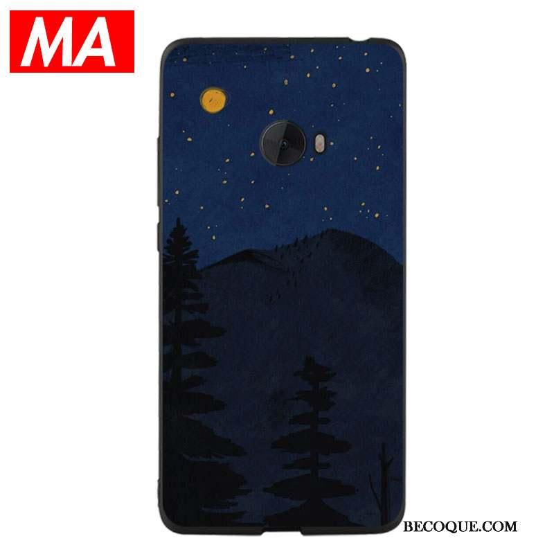 Mi Note 2 Étui Coque De Téléphone Simple Petit Bleu Fluide Doux
