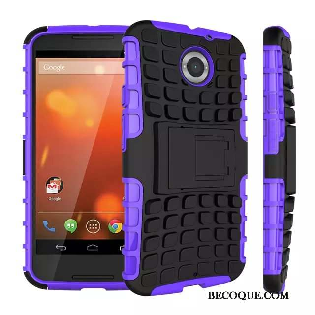 Moto X Coque Protection Téléphone Portable Violet Antidérapant Silicone Support
