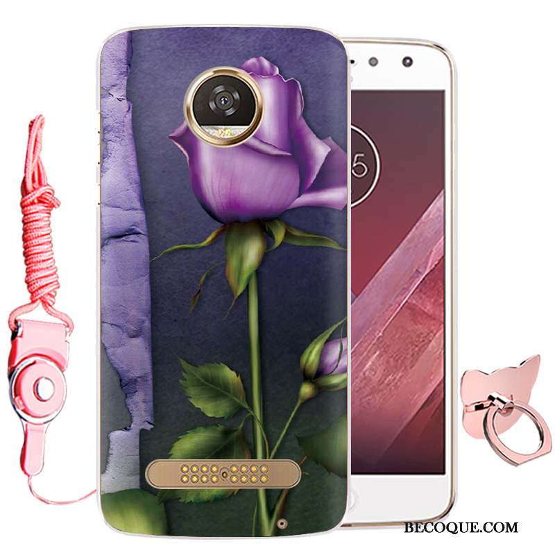 Moto Z Play Protection Tout Compris Silicone Étui Coque De Téléphone Violet