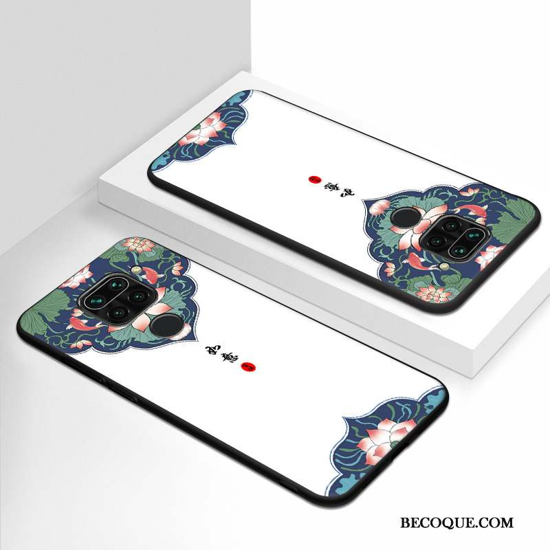 Redmi Note 9 Style Chinois Fluide Doux Protection Silicone Nouveau Coque