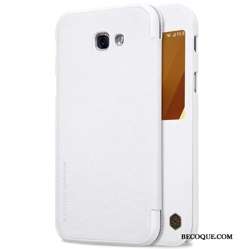 Samsung Galaxy A3 2017 Coque Incassable Protection Blanc Housse Or Étui