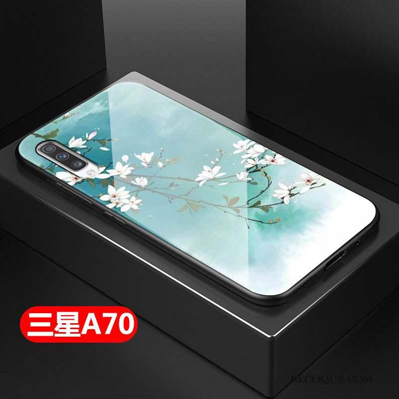 Samsung Galaxy A70 Coque Style Chinois Fluide Doux Art Difficile Tout Compris Petit