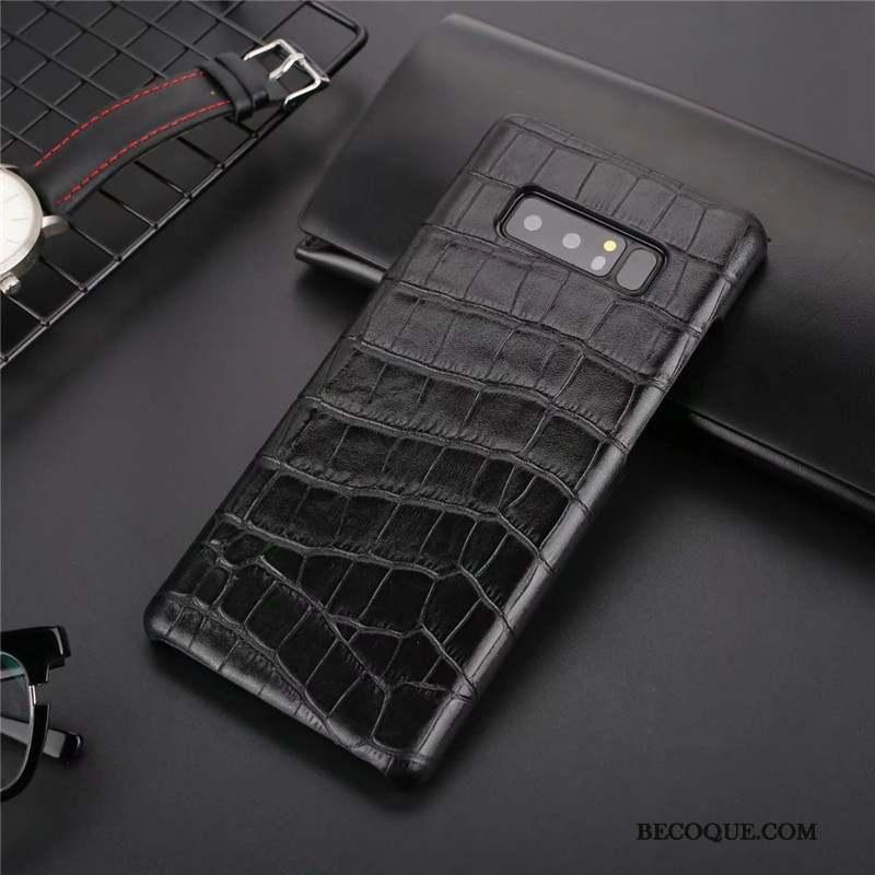 Samsung Galaxy Note 8 Coque Incassable Nouveau Protection Étui En Cuir Cuir  Véritable Téléphone Portable 43e0dfaa588