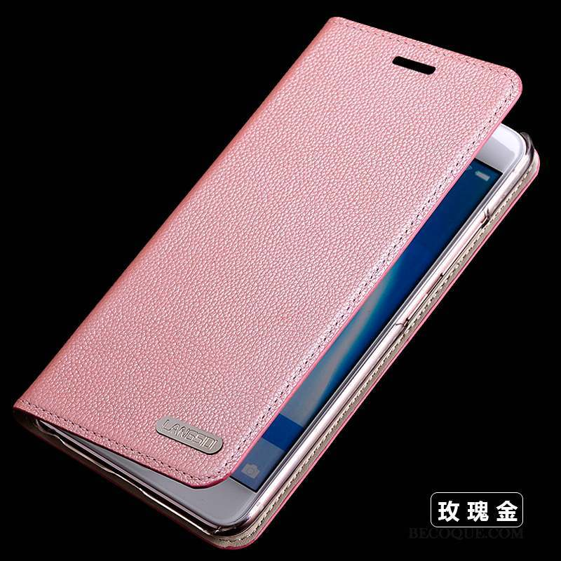 Samsung Galaxy S6 Coque Protection Cuir Véritable Fluide Doux Silicone Rose Housse