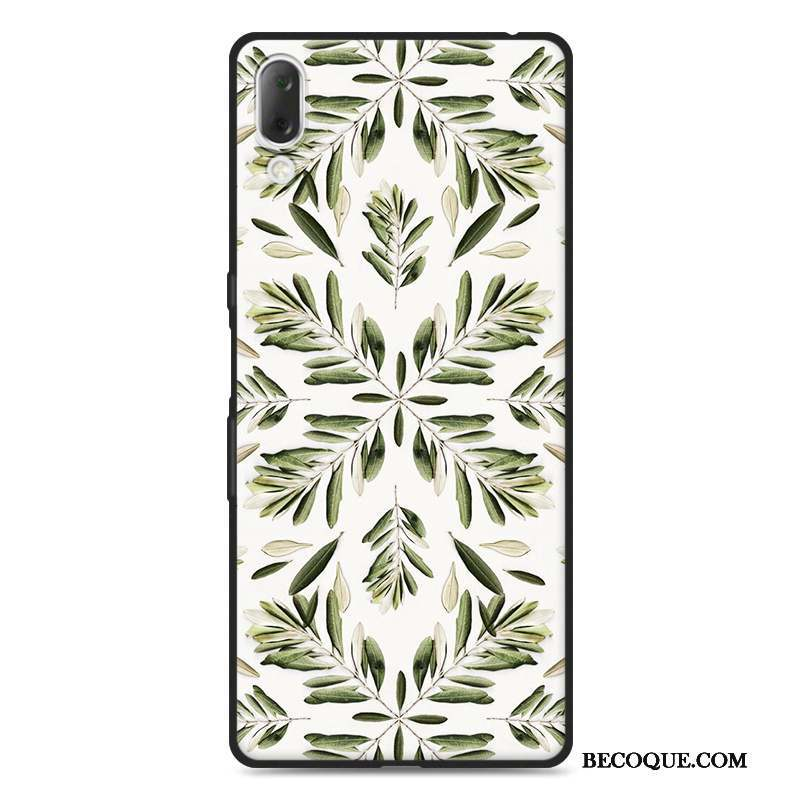 Sony Xperia L3 Dessin Animé Fluide Doux Coque De Téléphone Étui Vert Silicone