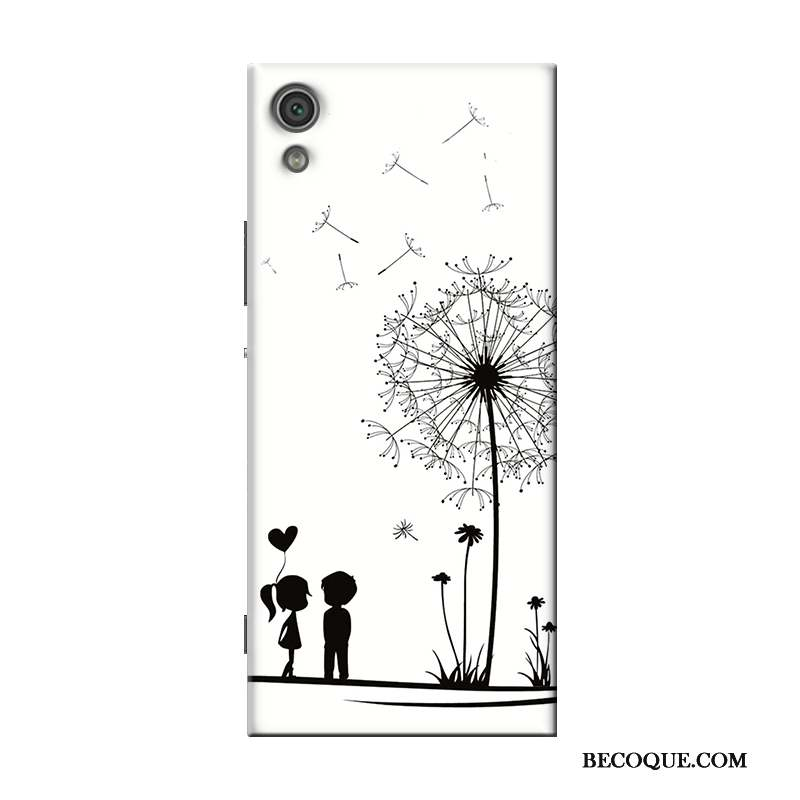 Sony Xperia X Support Coque Transparent Silicone Dessin Animé Blanc