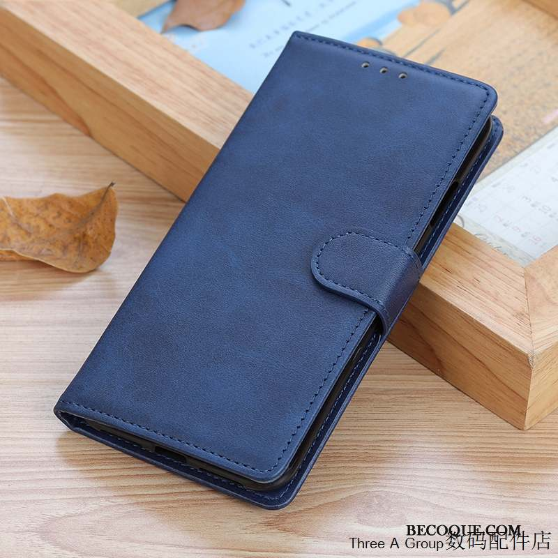 Xiaomi Mi 10 Coque Business Simple Bleu Carte Petit Incassable