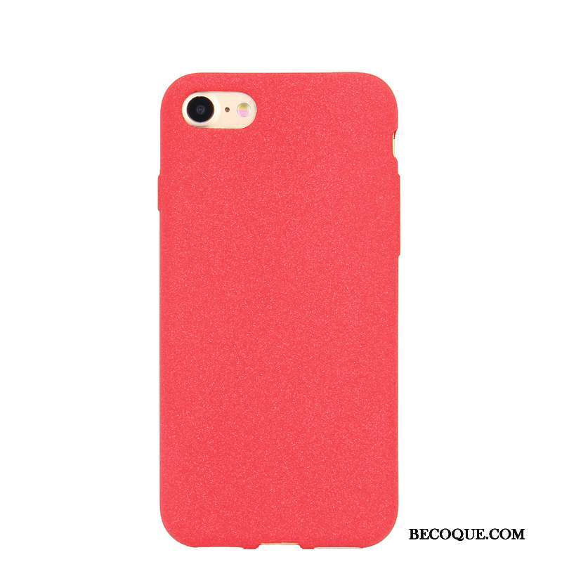 iPhone 6/6s Coque Silicone Couleur Unie Incassable Simple Fluide Doux Rouge