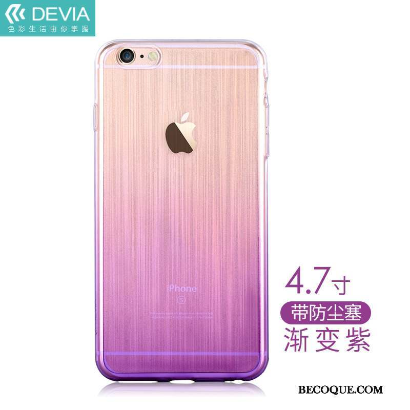 iPhone 6/6s Coque Silicone Incassable Transparent Étui Tendance Protection