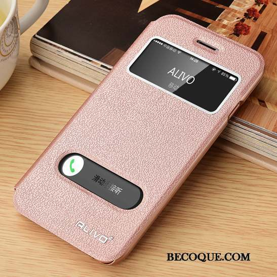 iPhone 6/6s Incassable Protection Clamshell Or Rose Coque De Téléphone Étui En Cuir
