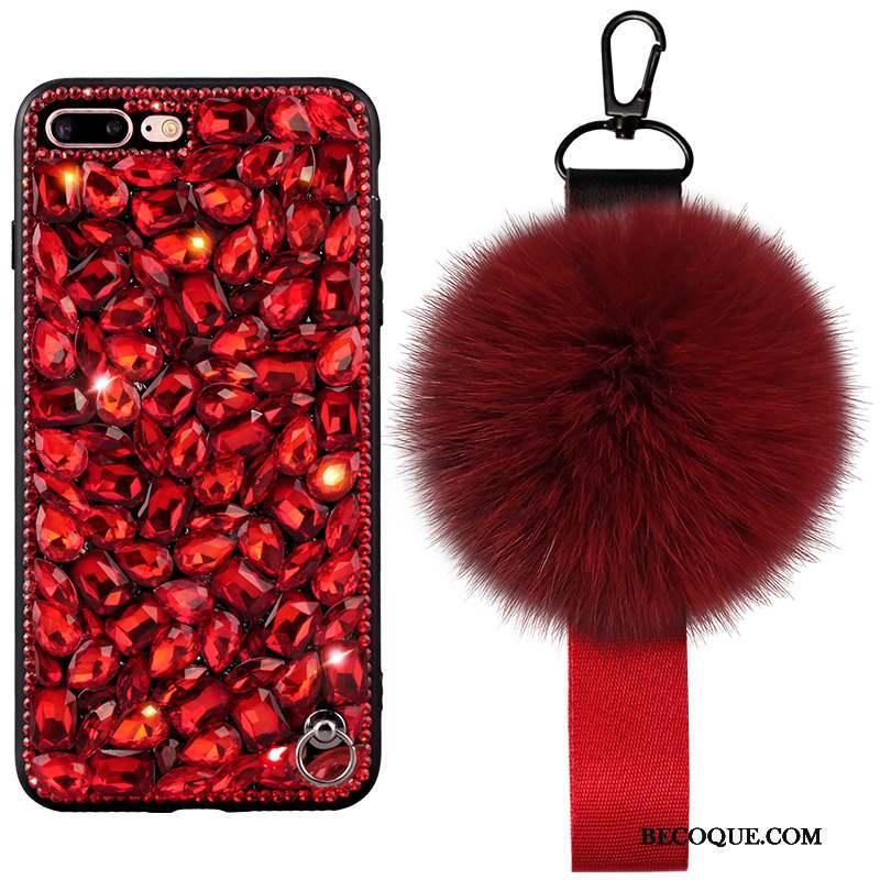 iPhone 6/6s Plus Luxe Silicone Pompon Coque De Téléphone Tout Compris Incassable
