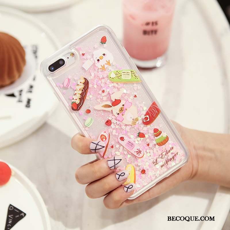 iPhone 8 Coque De Téléphone Tout Compris Rose Original Charmant Silicone 4925