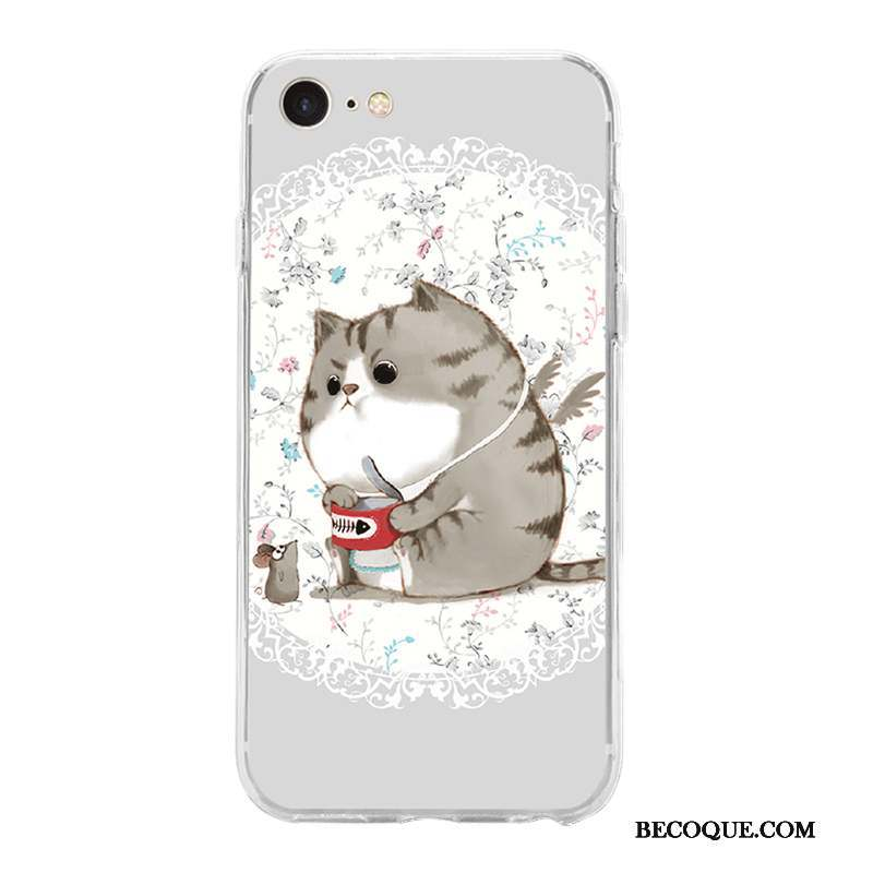 iPhone 8 Plus Rat Original Fluide Doux Chat Coque De Téléphone Net Rouge