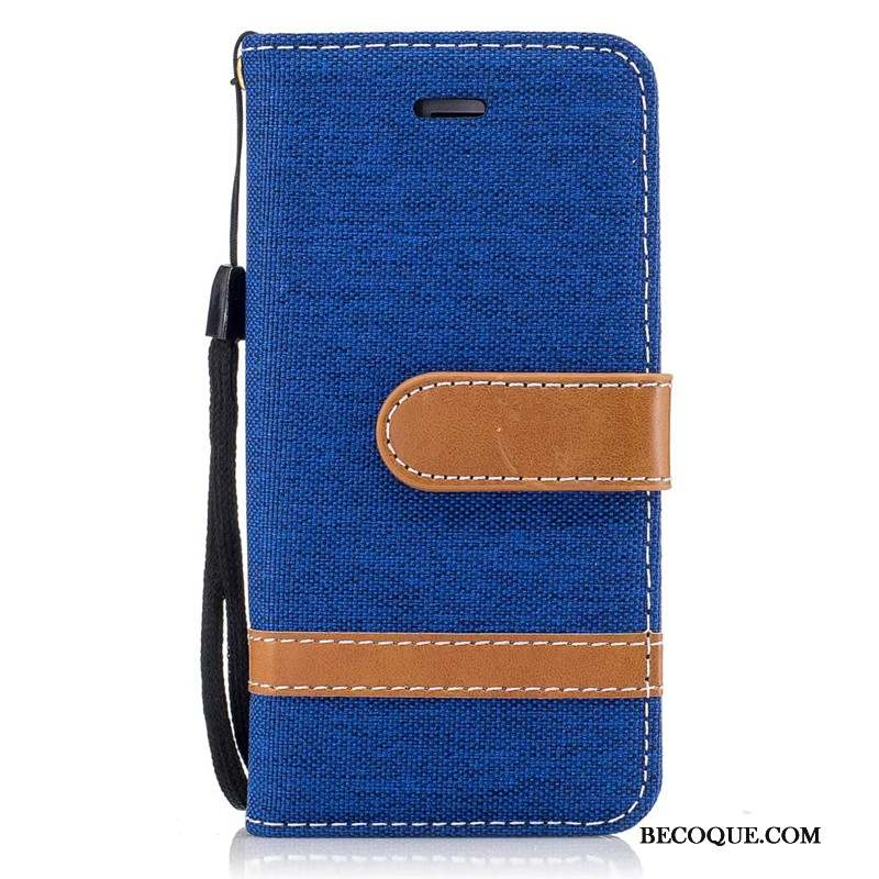 iPhone Se 2020 Coque Tendance En Denim Housse Carte Étui Support