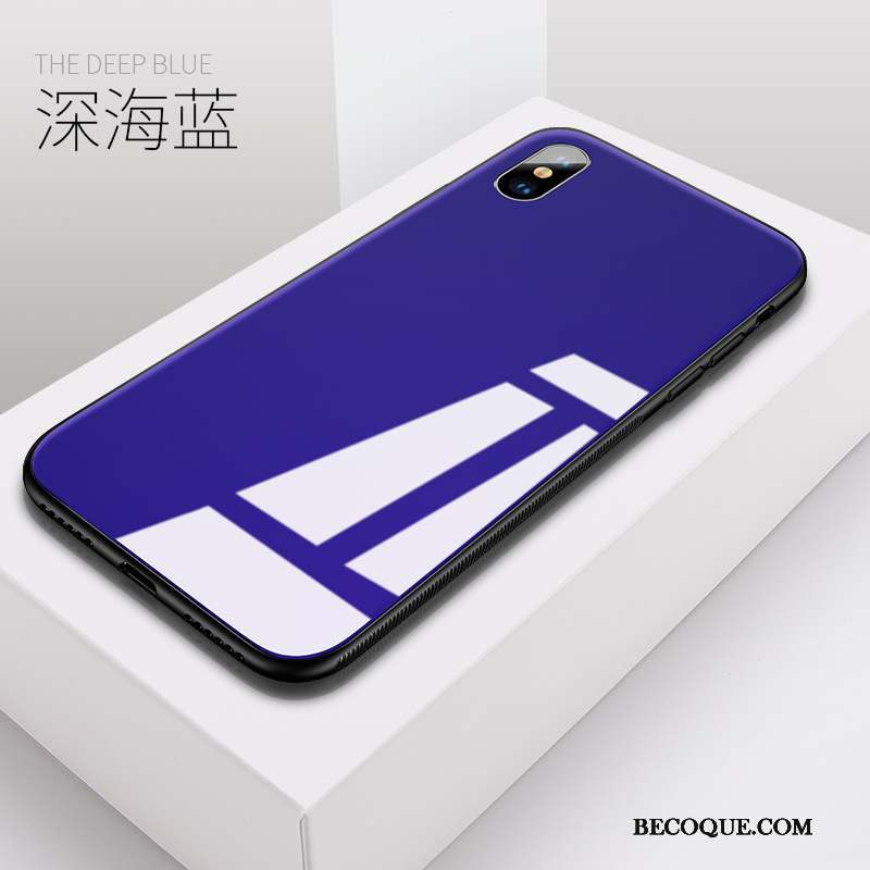 iphone x coque silicone bleu